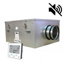 Вентилятор канальный бесшумный VS(EC)-200 с пультом ДУ (улитка ebm-papst)